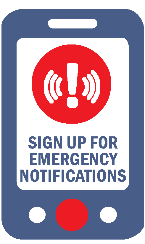 Emergency notification icon