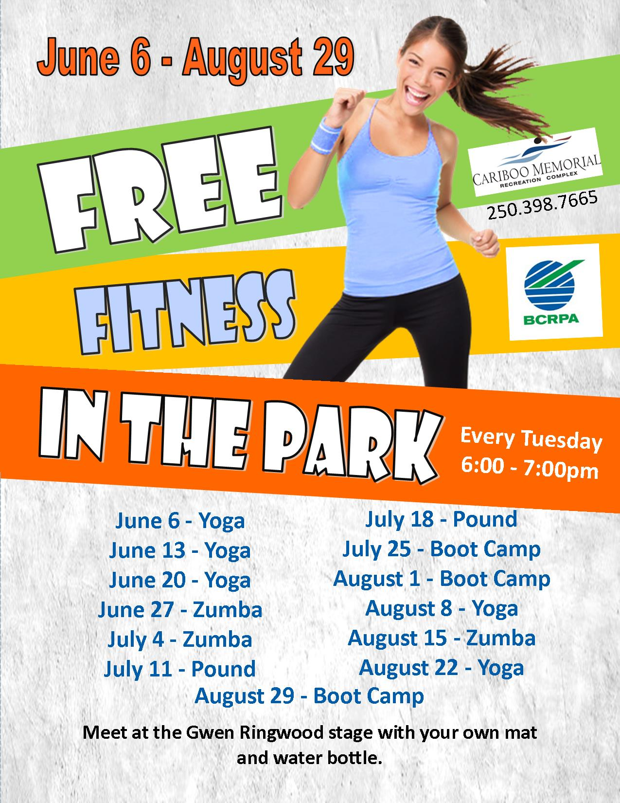 free fitness in the park 2017