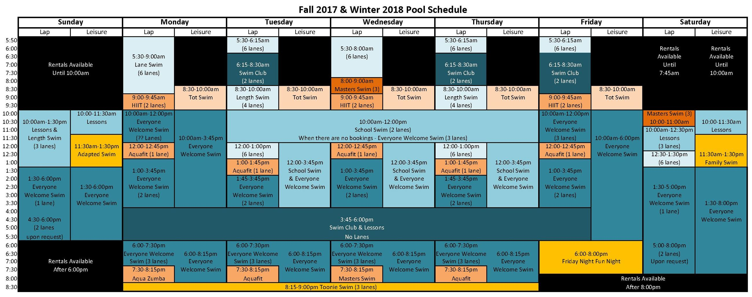 pool schedule winter 2018 colour
