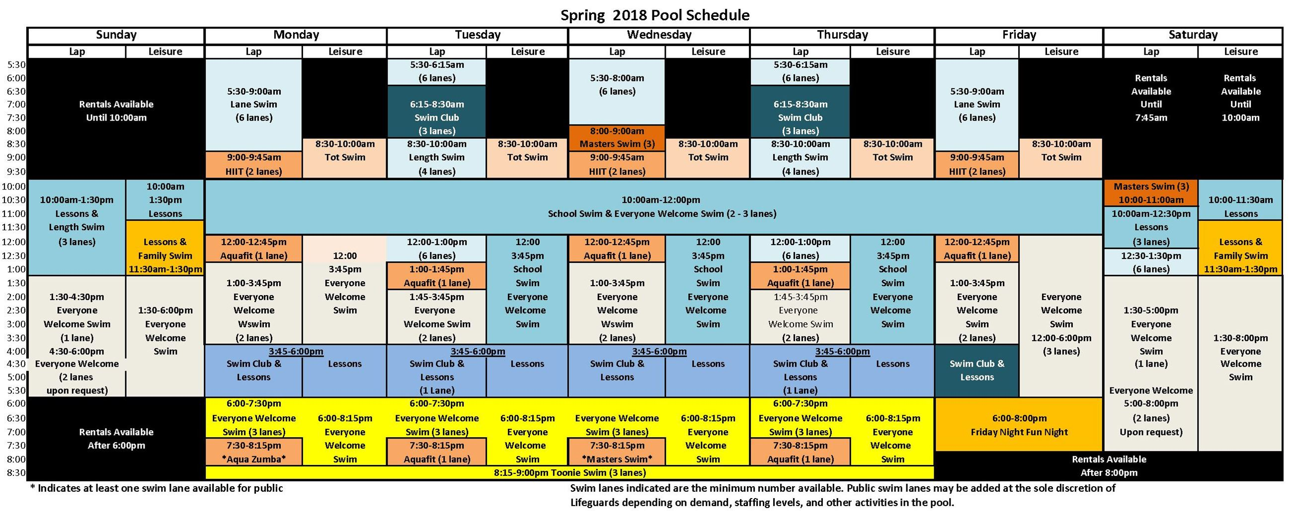 Spring 2018 Pool Schedule colour