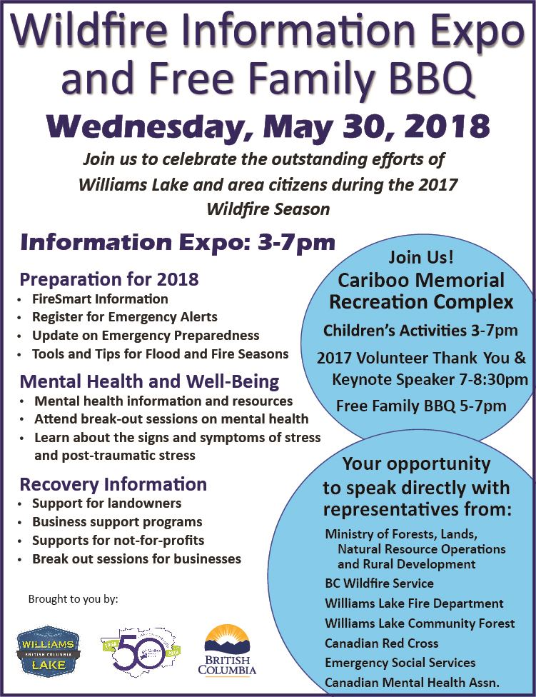 Poster - May 30, 2018 Wildfire Info Expo and BBQ