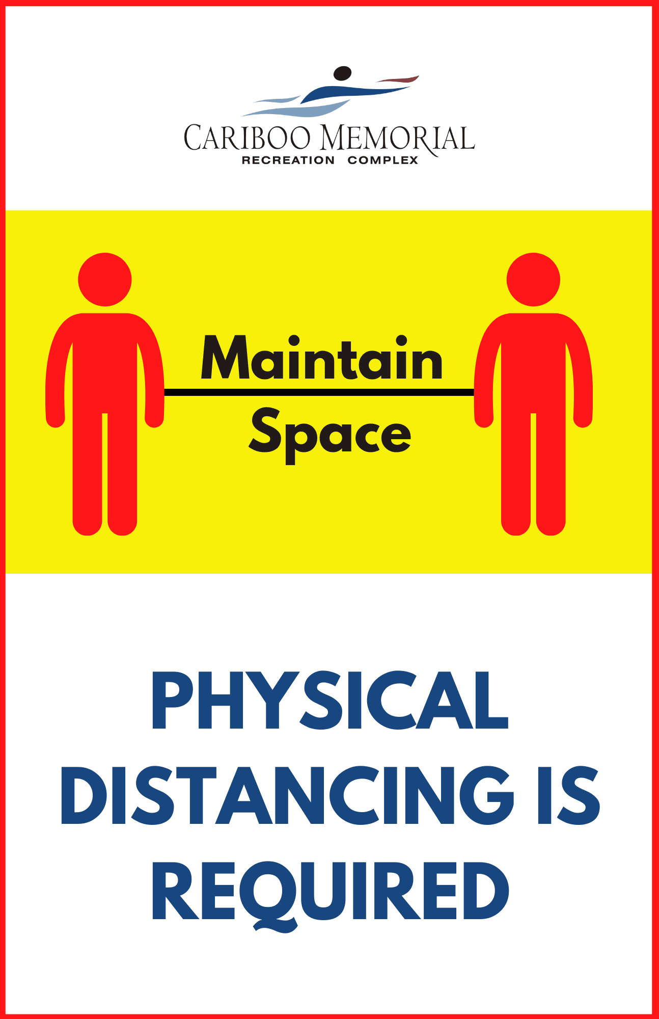 Copy of Physical Distancing is required