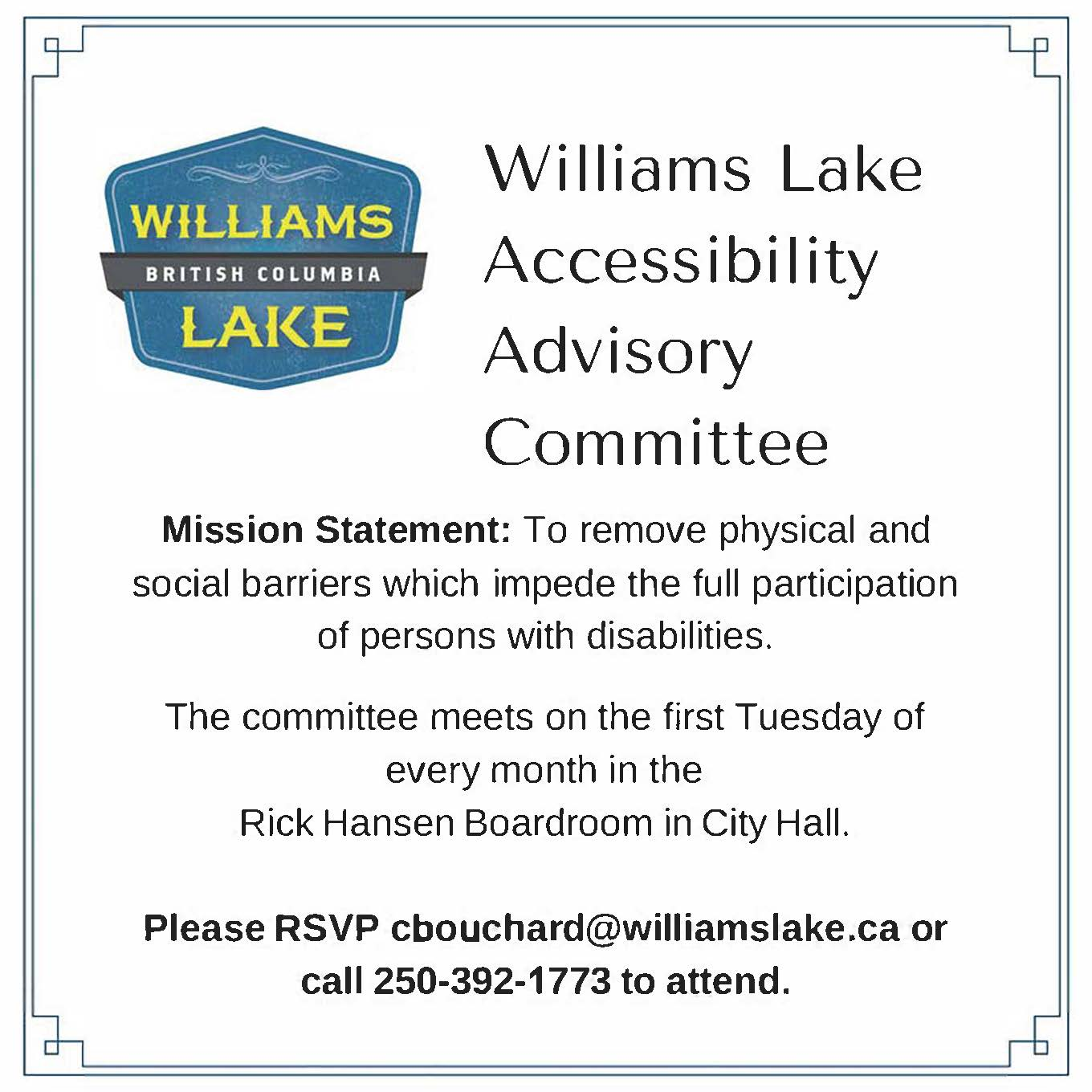 Accessibility Meetings Public Invite