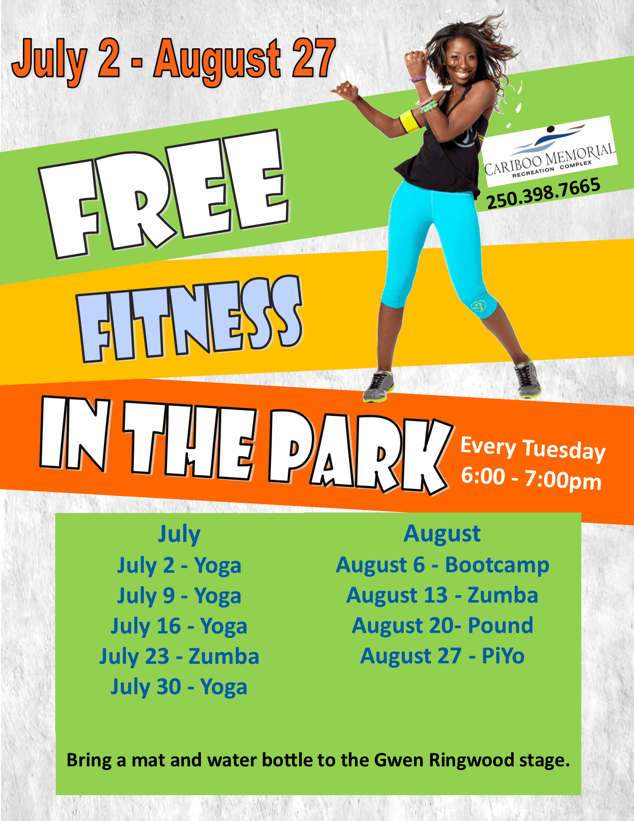 free fitness in the park 2019