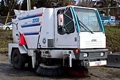 Public Works street sweeper